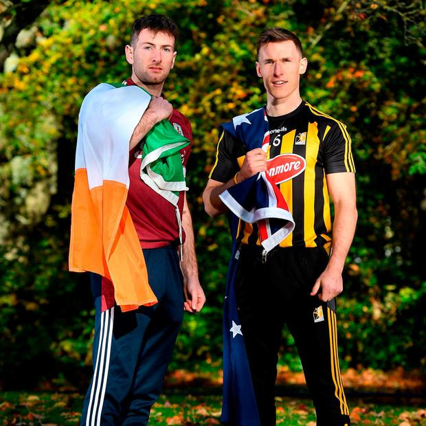 Galway's Pádraic Mannion and Kilkenny's Cillian Buckley are heading to Australia as part of the Sydney Irish Fest on November 10/11. Photo: Harry Murphy/Sportsfile