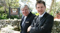 Brothers in business: Francis and John Brennan have operated the luxury hotel for almost 40 years