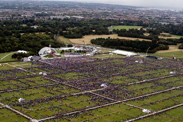 Crowds to see Pope Francis at the Phoenix Park last August. Picture: Getty