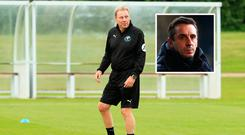 Harry Redknapp and (inset) Gary Neville