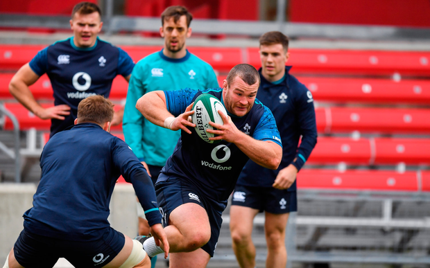 1 November 2018; Jack McGrath during Ireland rugby squad training session at Toyota Park in Chicago, USA. Photo by Brendan Moran/Sportsfile