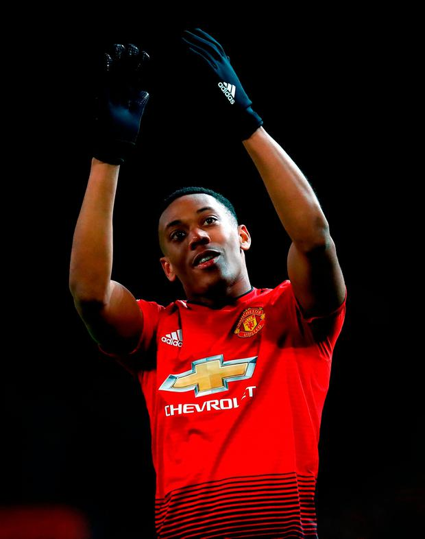 Manchester United's Anthony Martial looks to be about to extend his stay at the club. Photo: Martin Rickett/PA