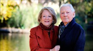 Kathleen Watkins and daughters are keeping a close eye on Gay Byrne to make sure he doesn't over do it. Picture: David Conachy