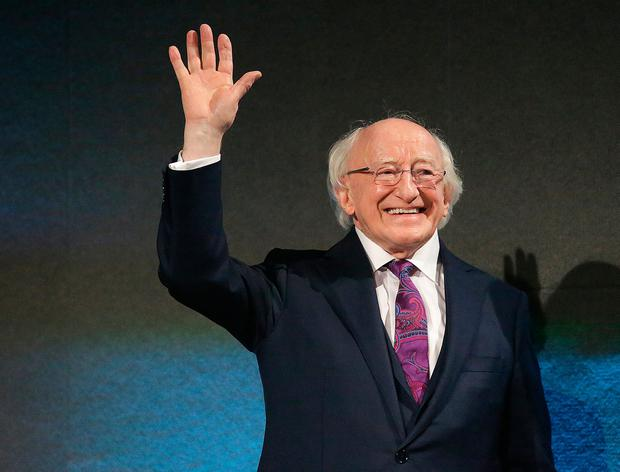 Request: President Michael D Higgins asked for a delay of a few hours. Picture: Damien Eagers