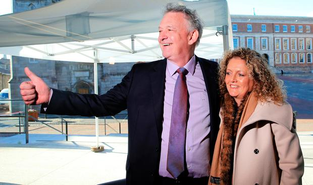 Crossroads: Peter Casey and his wife Helen. Photo: Gerry Mooney.