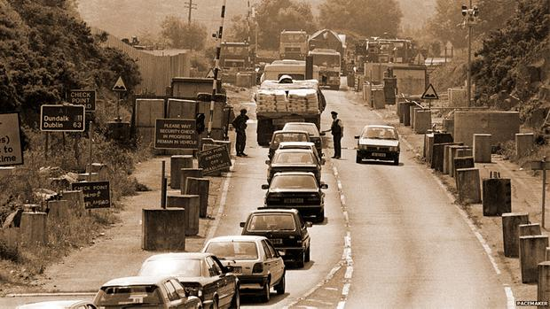 On the road from Belfast to Dublin in 1989, something lifted inside when you passed the Border