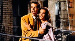 Richard Beymer and Natalie Wood as Tony and Maria in 'West Side Story'
