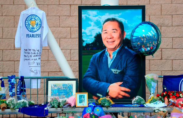 TRIBUTE: Leicester City fans pay tribute to the club's popular owner Vichai Srivaddhanaprabha, who died in last weekend's helicopter crash. Photo: Mike Egerton/PA Wire