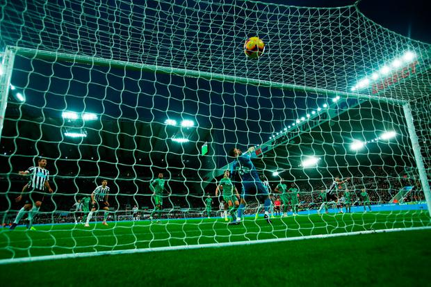 Ben Foster of Watford is beaten by the shot of Ayoze Perez of Newcastle United for the only goal of the game Photo: Ian MacNicol/Getty Images