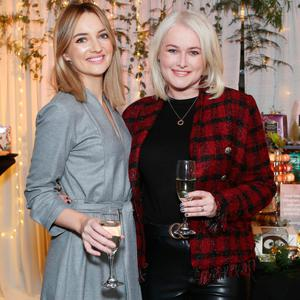 Caroline Foran and Lorna Weightman at the Amazing Aldi Christmas Showcase. Picture: Leon Farrell/Photocall Ireland