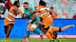 Alby Mathewson of Munster in action during the Guinness PRO14 Round 8 match between Cheetahs and Munster at Toyota Stadium in Bloemfontein, South Africa. Photo by Johan Pretorius/Sportsfile