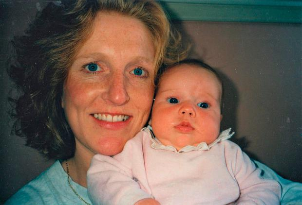 New arrival: Emily Campion 23 years ago with her proud mother Dolores