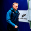Joe Schmidt walks out onto the pitch at Soldier Field with a spring in his step. Photo by Brendan Moran/Sportsfile