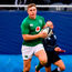 'Larmour may have to return to the bench for the All Blacks but his time as a reserve must be coming to a close soon.' Photo by Brendan Moran/Sportsfile