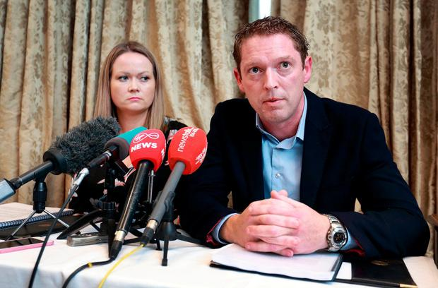 Outraged: Stephen Teap and Lorraine Walsh have both criticised Tony O'Brien's remarks in a Sunday newspaper. Photo: Frank McGrath