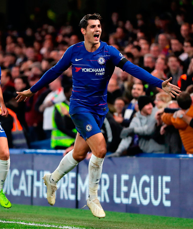 Morata: Killer instinct. Photo: Richard Heathcote/Getty Images