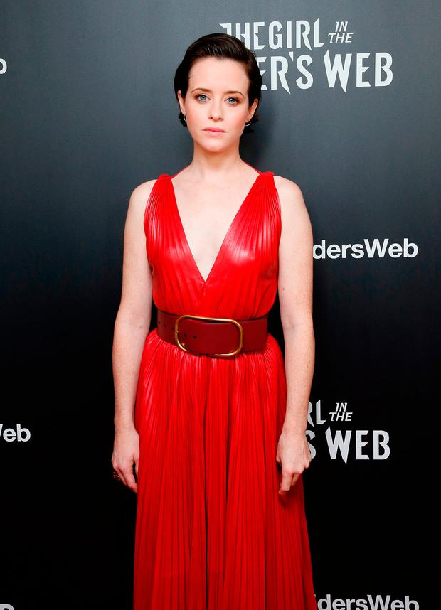 Claire Foy attends The Girl In The Spider's Web