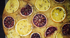 Upside-Down Orange and Fennel Cornmeal Cake