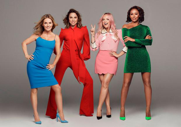 The Spice Girls, minus Posh Spice, in a handout photo. Photo: PA