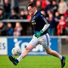 Rory Beggan in action for Scotstown against Burren at Páirc Esler, where victory capped a perfect weekend for the Monaghan All-Star. Photo: Oliver McVeigh/Sportsfile
