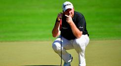 Shane Lowry, lining up a putt during the Turkish Airlines Open, aims for a top 50 ranking next year. Photo: Stuart Franklin/Getty Images