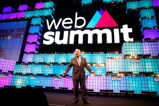 United Nations Secretary-General Antonio Guterres speaks during the inauguration of Web Summit, Europe's biggest tech conference, in Lisbon, Portugal, November 5, 2018. REUTERS/Pedro Nunes