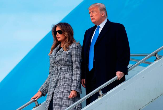 US President Donald Trump and First Lady Melania Trump. Photo: AFP/Getty