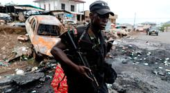 Rebels have gunned down Cameroon troops, pictured, and police. Photo: Reuters