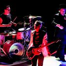 Bono, Adam Clayton and Larry Mullen Jnr. from U2 performing during the first night of the eXPERIENCE + iNNOCENCE Tour at the 3Arena in Dublin. Pic: Steve Humphreys
