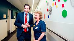 Unveiling: Simon Harris with Deirdre Kiely of CNM2 Day Ward at the opening of the cataract centre at Nenagh Hospital. Photo: Brian Arthur