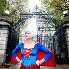 EU hero: 'EU Supergirl' Madeleina Kay – a British artist, writer, musician and political activist – was at Leinster House for the launch of the Festival of Politics, which runs from November 15 to 18. Photo: Photocall Ireland