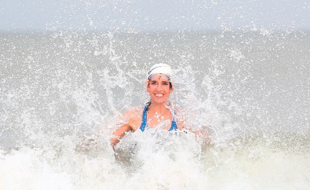 Kathy Donaghy in the water. Photo: Lorcan Doherty