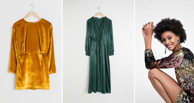 941973be Zara trimmed ballerina shoes, €29.95 Two tone gloves, & Other Stories,  €59.00 Emerald green velvet wrap dress, & Other Stories, €89.00 Don't be  afraid to ...