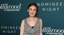 Irish animator Nora Twomey poses for photographs as she arrives at The Hollywood Reporter sixth Annual Nominees Night, in Los Angeles, California late on February 5, 2018. JEAN-BAPTISTE LACROIX/AFP/Getty Images
