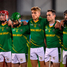 6 November 2018; Members of the Clonkill team stand for a minute's silence in memory of the late Annabel Loughlin prior to the AIB Leinster GAA Hurling Senior Club Championship quarter-final match between Ballyboden St Endas and Clonkill at Parnell Park, in Dublin. Photo by Brendan Moran/Sportsfile