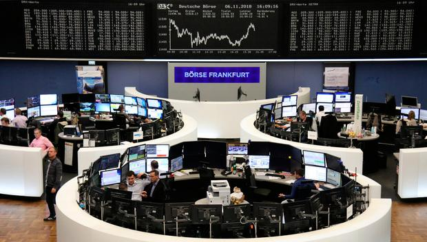 The German share price index DAX graph is pictured at the stock exchange in Frankfurt, Germany, November 6, 2018. Photo: Reuters