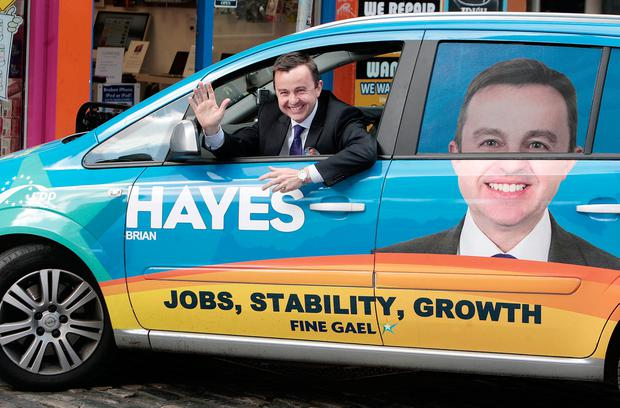 Party stalwart: Fine Gael MEP Brian Hayes has fought eight elections at different levels during his 25-year career in politics. Photo: Tom Burke