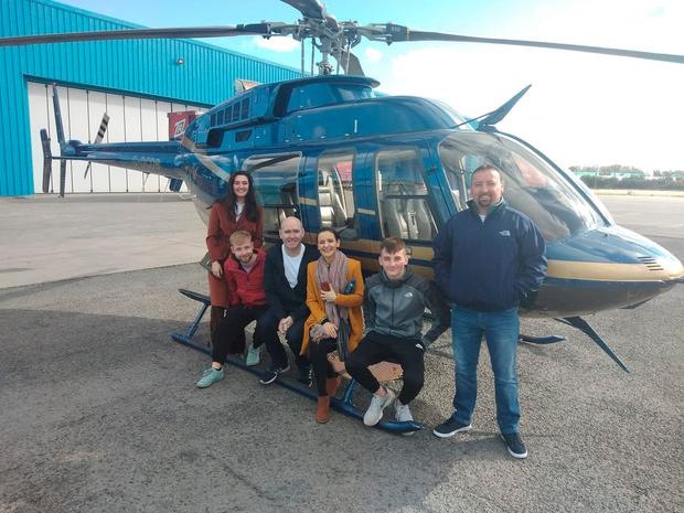 Kim Allen with her family on a helicopter ride just weeks ago