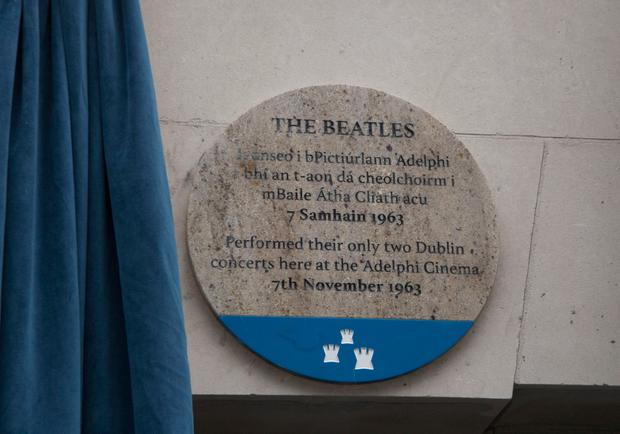 The Beatles commemorative plaque, Middle Abbey Street, Dublin. Picture Colm Mahady /Fennells - Copyright©Fennell Photography 2018.