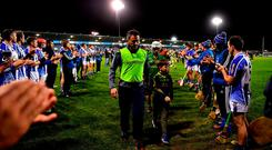 True sportsmanship: Ballyboden St Enda's form a guard of honour for Clonkill manager Kevin O'Brien and his players after the Leinster Club SHC quarter-final at Parnell Park. Photo: Brendan Moran/Sportsfile