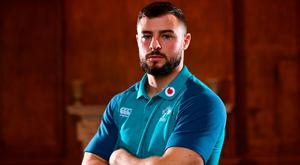 Two into three: Robbie Henshaw faces a battle with Bundee Aki and Garry Ringrose for the two centre spots in the Ireland team. Photo: Ramsey Cardy/Sportsfile