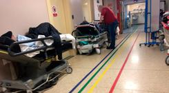 Damning indictment: Trolleys in corridors are a familiar sight in our hospitals