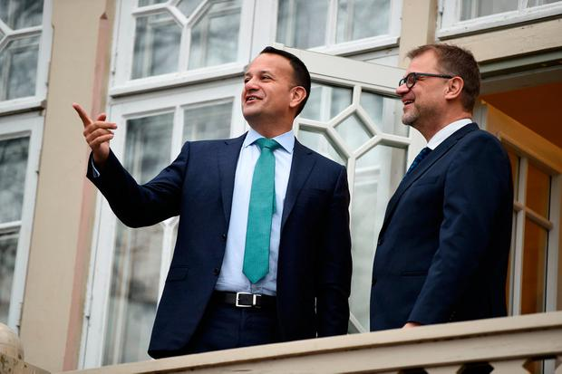 Diplomacy: Leo Varadkar visits Finnish Prime Minister Juha Sipila at his official residence in Helsinki