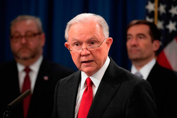 Outgoing US Attorney General Jeff Sessions. Photo by Jim WATSON / AFP