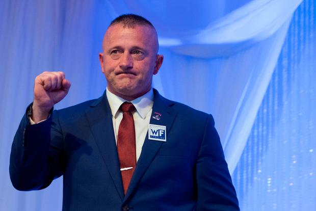 Democratic congressional candidate Richard Ojeda reacts after delivering his concession speech during his election night party in Yuma, West Virginia, U.S. November 6, 2018. Picture: REUTERS/Lexi Browning