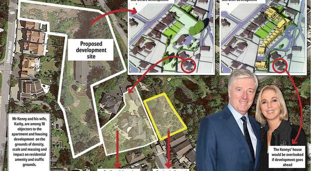One of Ireland's best known broadcasters, Newstalk's Pat Kenny and his wife, Kathy have won their battle against plans for three apartment blocks and seven houses on a site adjacent to their Dalkey home.