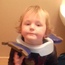 Little Jack got the toddler training toilet seat stuck around his neck