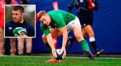 Jordan Larmour and (inset) Sean O'Brien will both start for Ireland against Argentina