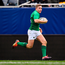 3 November 2018; Jordan Larmour of Ireland on the way to scoring his side's 4th try during the International Rugby match between Ireland and Italy at Soldier Field in Chicago, USA. Photo by Brendan Moran/Sportsfile