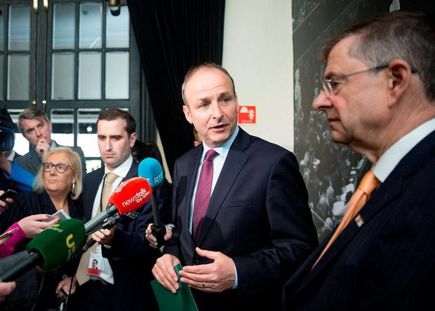 Action: Micheál Martin (left) and Éamon Ó Cuív have long had a fractious relationship. Photo: Arthur Carron